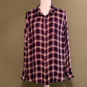 Lucky Brand NWT button down long sleeves top XL